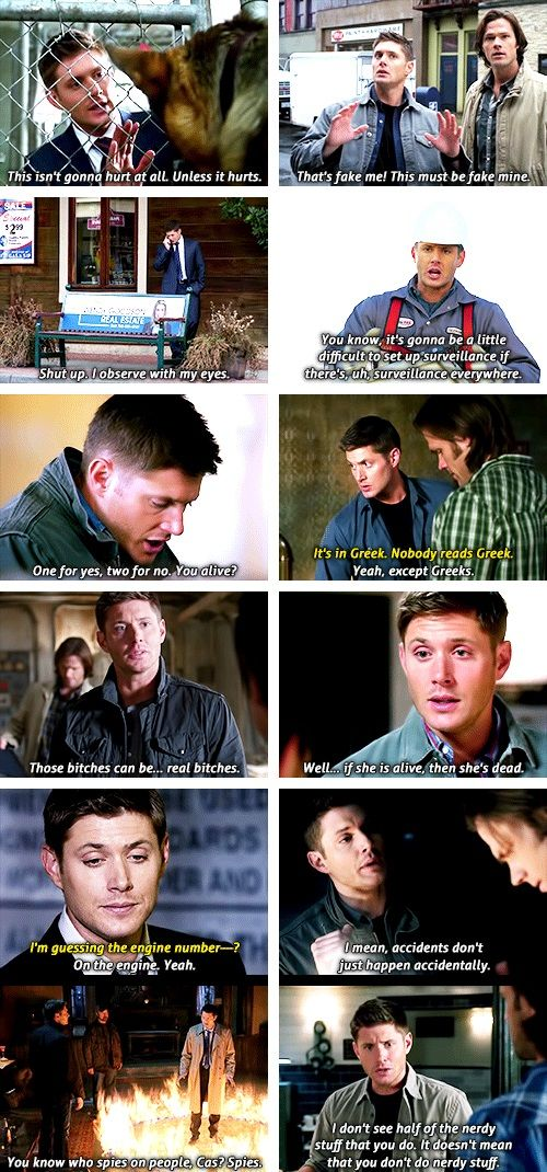 (gif set) Dean Winchester Logic