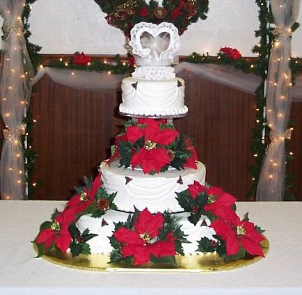 Images Of Christmas Wedding Cakes