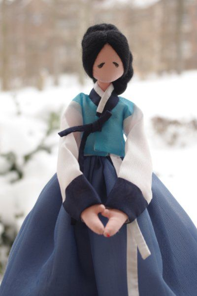 Korean doll--folk art style