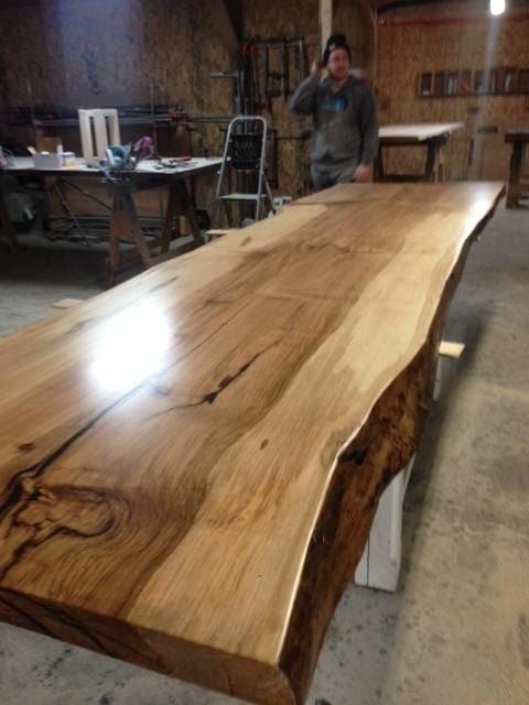 Live Edge Table Single Slab Boardroom Table By TreeGreenTeam