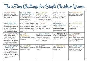 TSL: The 30-Day Challenge for Single Christian Women – The BarnPrincess