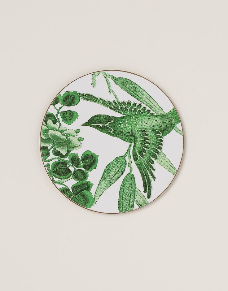 BIRD COASTER brikke grønn