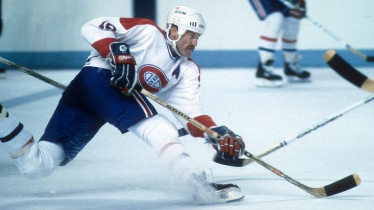 MONTREAL, QC - 1988: Larry Robinson #19 of the Montreal Canadiens shoots during an NHL game circa 1988 at the Montreal Forum in Montreal, Quebec, Canada. (Photo by B Bennett/Getty Images)
