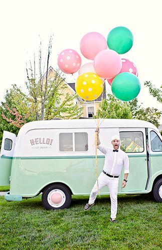 Make it a real ice cream social by dressing up as an old fashion ice cream man!
