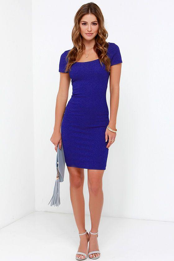 Photo Opportunist Royal Blue Bodycon Midi Dress at Lulus.com!