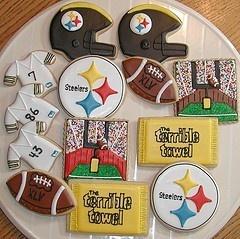 Steelers CookiesCookies Ideas, Steelers Cookies, Superbowl Xlv, Cookies Decor, Super Bowls, Football Cookies Recipe, Football Season, Superbowl Cookies, Sports Cookies