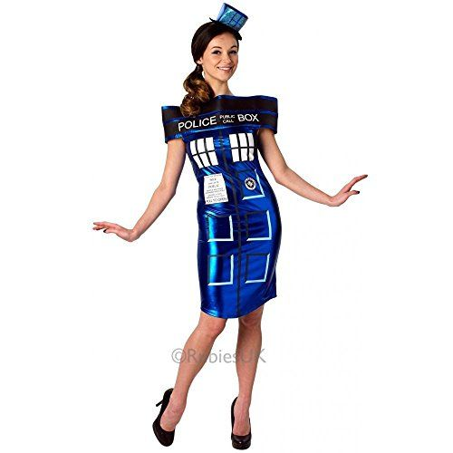 Extra Small Ladies Doctor Who Tardis Dress Costume @ niftywarehouse.com #NiftyWarehouse #DoctorWho #DrWho #Whovians #SciFi #ScienceFiction #BBC #Show #TV