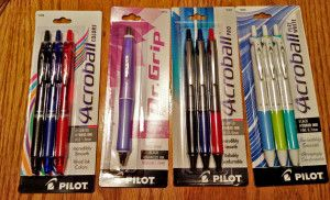 Pilot Acroball Pens & Dr.Grip Frosted Pen #Review