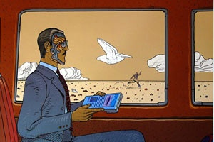 Going through a few old folders of inspiration this morning, and we were reminded of the great loss we have earlier this year in French illustrator Jean Giraud, aka Moebius. Famous for his work Blueberry and Silver  Surfer, as well as his work with Heavy Metal, he had one of the most vivid and expressive imaginations of any artists of his generations. Here is just a selection of classic works...