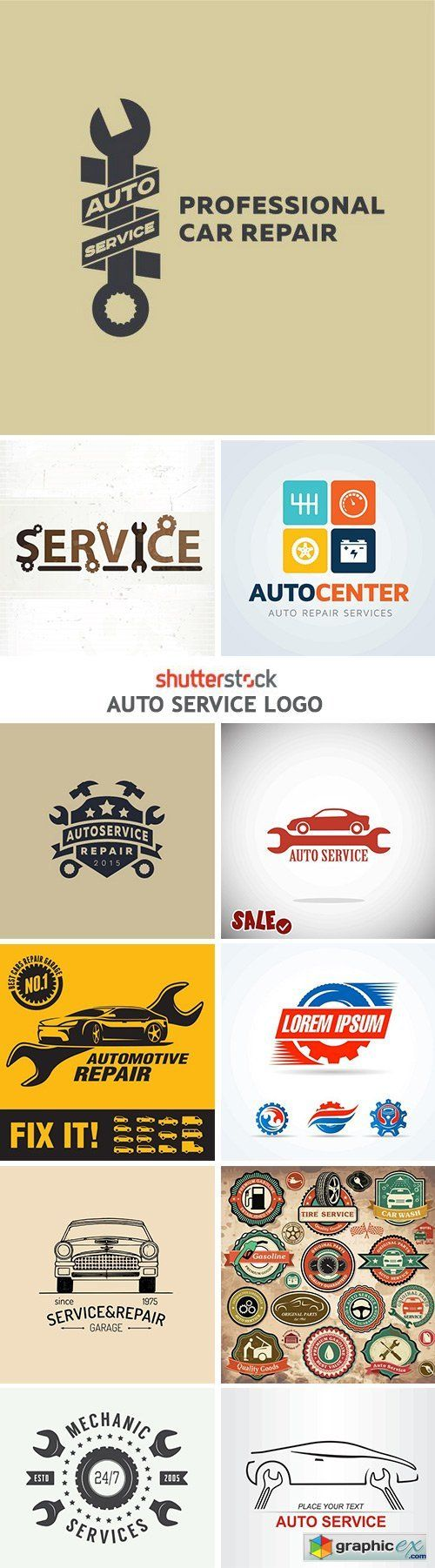 Auto repair shops near me and reviews - Stock Vector Auto Service Logo 25 Eps In Original Filenames