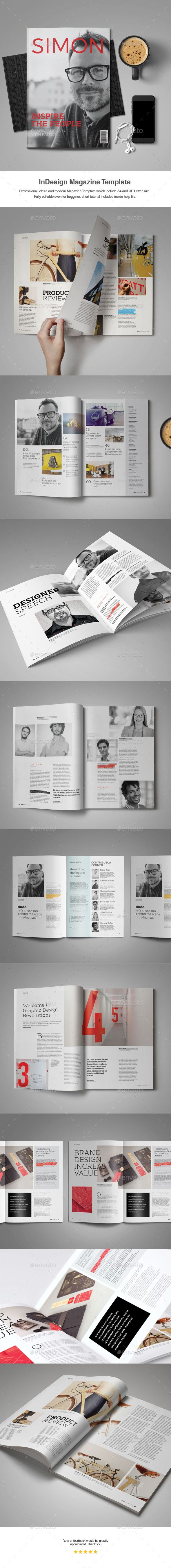 InDesign Magazine Template Magazines Print Templates