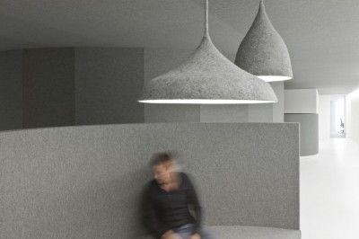 Felt lamp shades by i29 architects for Tribal DDB Amsterdam