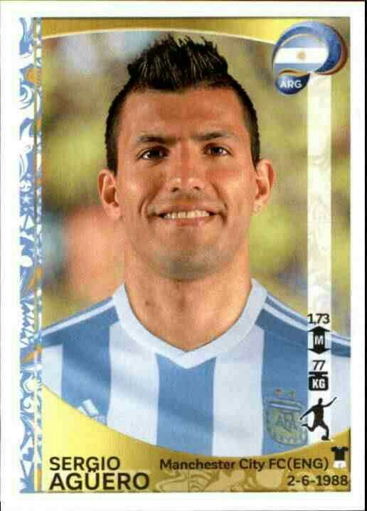 Sergio Aguero of Argentina. Copa America 2016 card.
