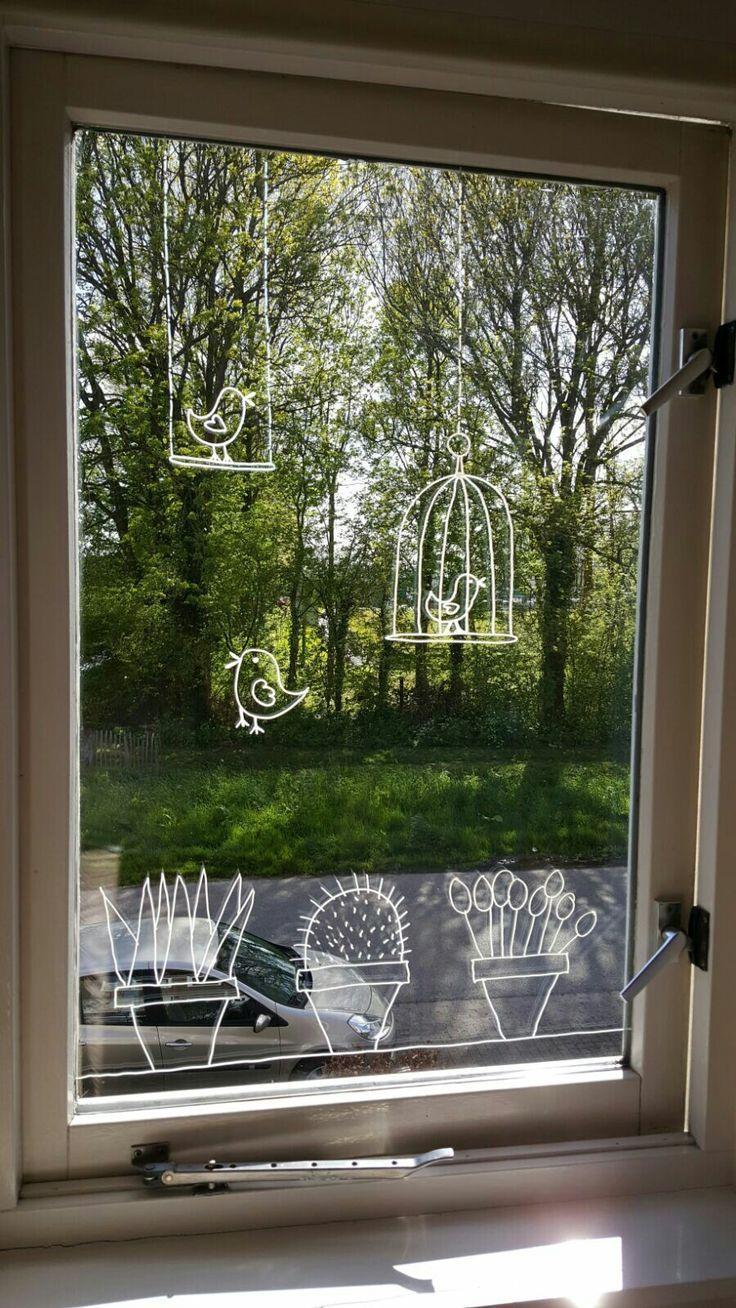 Ik denk dat ik dit ook op mijn raam ga schrijven! Ik heb dit op mijn raam gedaan cool!