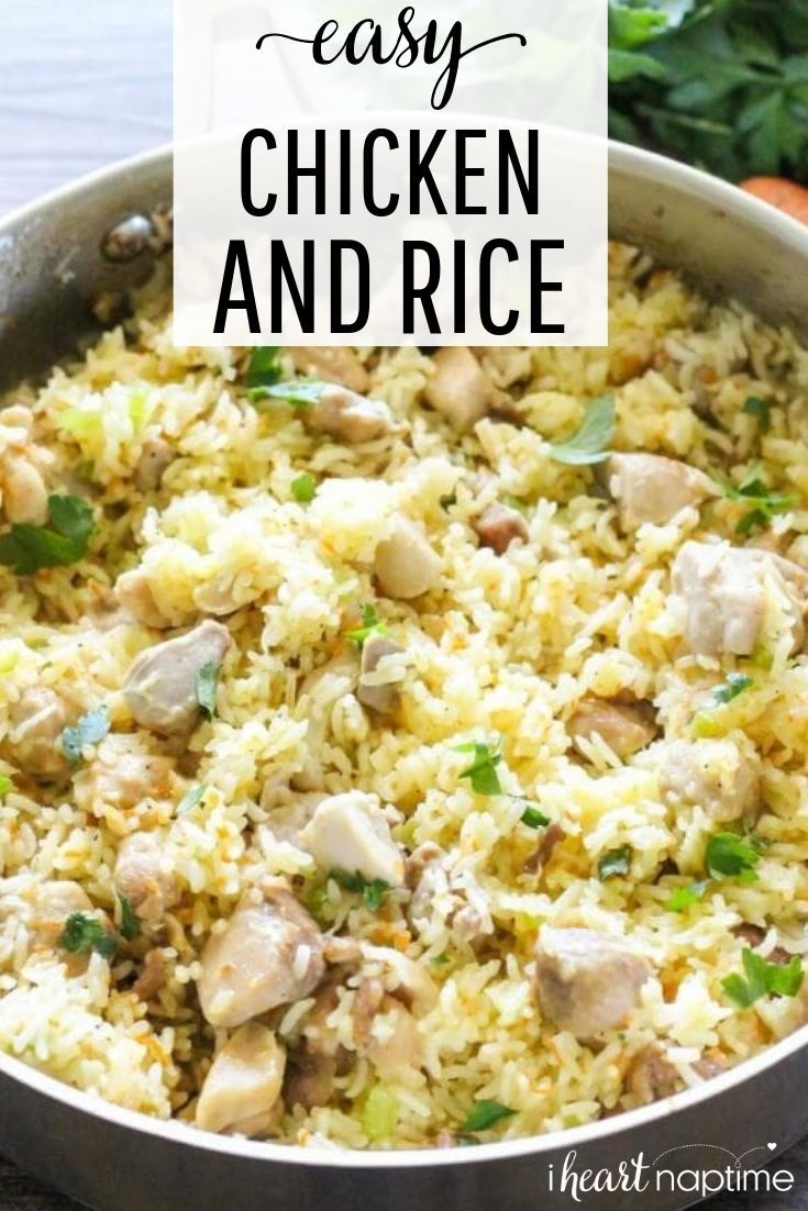 One Pot Chicken And Rice Easy Rice Recipes Easy Chicken And Rice Chicken Rice Recipes