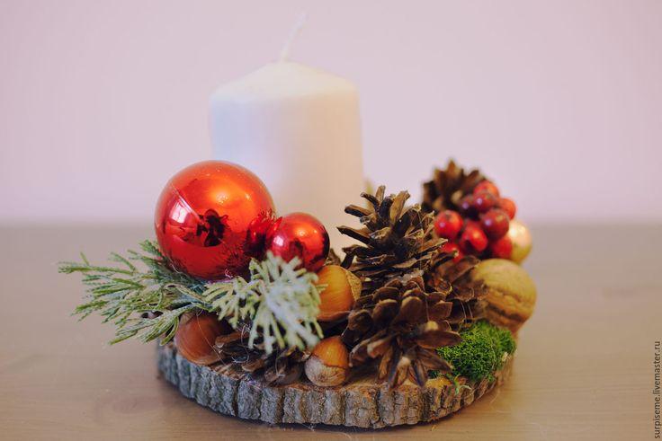 Купить Праздничные подсвечники №1 - разноцветный, подсвечник, подсвечники, подсвечник ручной работы, подсвечник из дерева