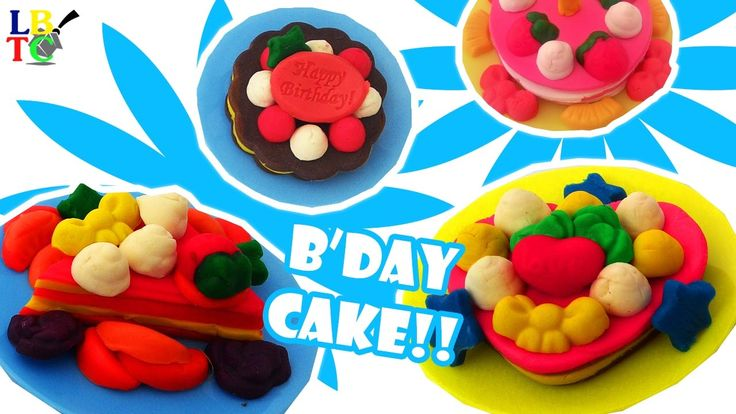 DIY How to Make Play Go Dough Cake Set Making Birthday Cake Play Doh Kid...