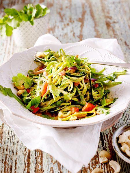 Zucchini-Nudeln in Gemüsecurry