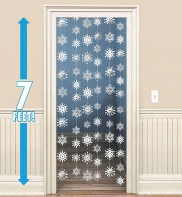 Snowflake String Decorations 6ct - 7 ft long string decorations $3.99 from Party City