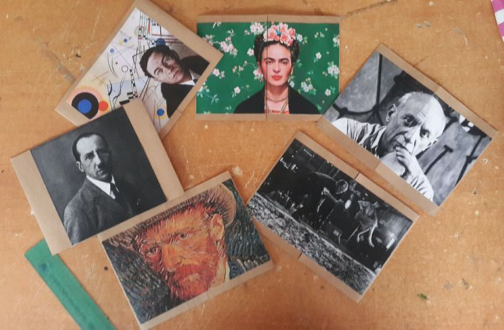 Çağdaş sanat ressam broşür kapakları