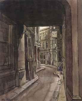 John Minton (1917-1957) | Ludgate Square | Modern British & Irish Art Auction | 20th Century, Paintings | Christie's