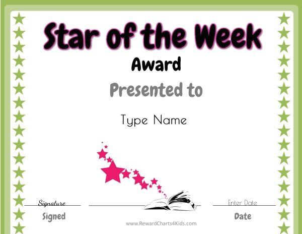 star of the week free printable for teachers star of the week
