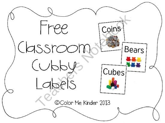 FREE Manipulative Cubby Labels from Color Me Kinder on TeachersNotebook.com (9 pages)