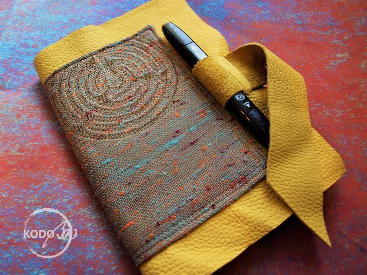 Vatanai wrap scrap scatchbook cover with leather made by KodoBa #Vatanai #KodoBa#wrapscrap #leather #scatchbook