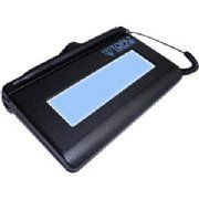 """Topaz SignatureGemTM Interactive LCD Series T-LBK462-HSB-R, USB by TOPAZ. $339.39. Topaz T-LBK462-HSB-R SignatureGem Backlit LCD 1X5  SignatureGem LCD 1x5 includes all the high-quality capture features of a Topaz electronic signature pad with the added feature of an LCD interactive display, allowing users to see """"electronic ink"""" under the pen tip as they sign as well as navigate between data screens where they will be able to read agreements and check preferred options for..."""