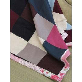 Handmade Patchwork Throw - Pink