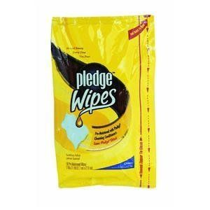 Lemon Scent Wet Wipes Cloth 7 x 10 White 18/Pack by Pledge. Save 64 Off!. $2.99. Premoistened to clean polish and protect furniture with no wax buildup. Great for hard-to-reach areas. Use on furniture cabinets paneling vinyl marble and leather. Towel/Wipe Type: Wet Wipes Application: Furniture Applicable Material: Wood Material(s): Cloth.Unit of Measure : Pack