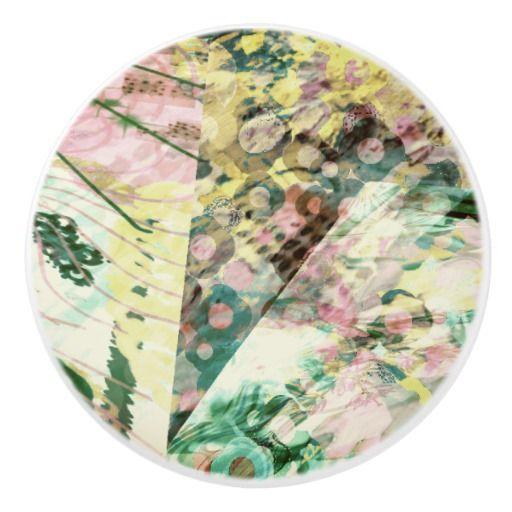 """Ceramic Pulls and Knobs """"Paris in the Spring"""" Ceramic Knob"""
