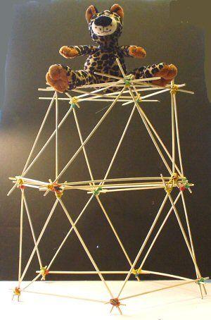 bouwen met stokjes en elastiekjes