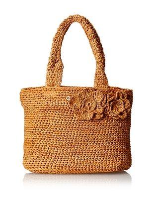 53% OFF Florabella Women's Montauk Small Crochet Raffia Tote, Amber