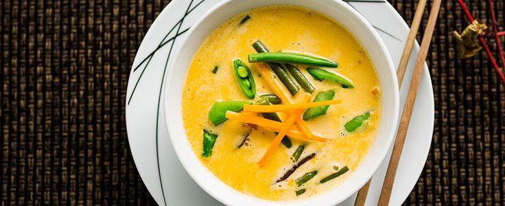 Thai curry grønnsaksuppe
