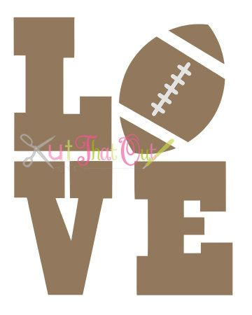 Football Love Design SVG file by KutThatOut on Etsy
