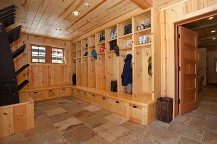 The Ultimate Mud Room For Skis Ski Cabin Mud Rooms