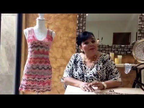 Segunda parte vestido de verano tejido con ganchillo fácil y rápido - tejiendo con Laura Cepeda - YouTube