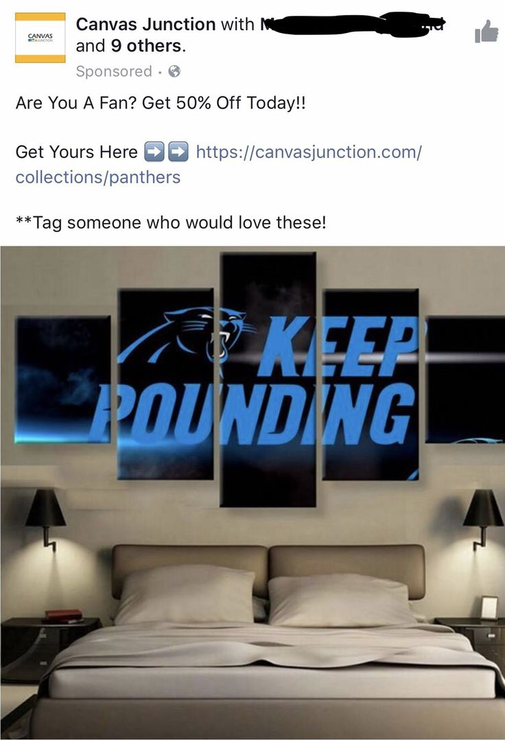 Now I Can Show My Carolina Panther Pride In The Bedroom!PatriotMB   Http: