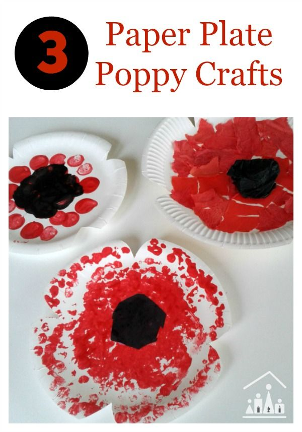 Our paper plate poppy crafts are perfect to sit down and do with your children, as you explain to the significance of Remembrance Day or Veterans Day to them. Will you try our Bubble Wrap Poppies, Torn Paper Poppies or Cork Painted Poppies first?