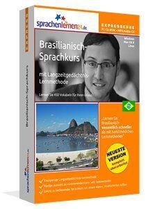 Brasilianisch lernen - Brasilianisch-Expresskurs: Brasilianisch-Vokabeltrainer für Ihren Urlaub in Brasilien mit Reiseführer