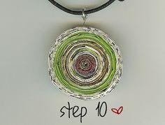 Recycled magazine jewelry tutorial - from especiallyheather.com