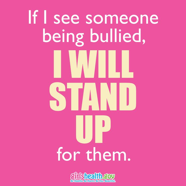 Save this! Bullying anyone is never the right thing to do. Stand up if you see someone being bullied.