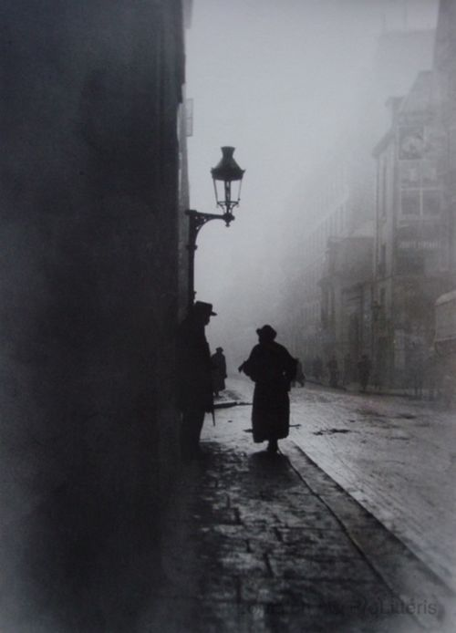 Emile Goss , l'aveugle de la rue de la Seine Paris, 1911.