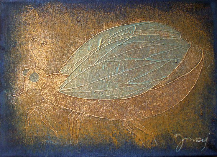 1-2011, 24x33, mixed media on canvas
