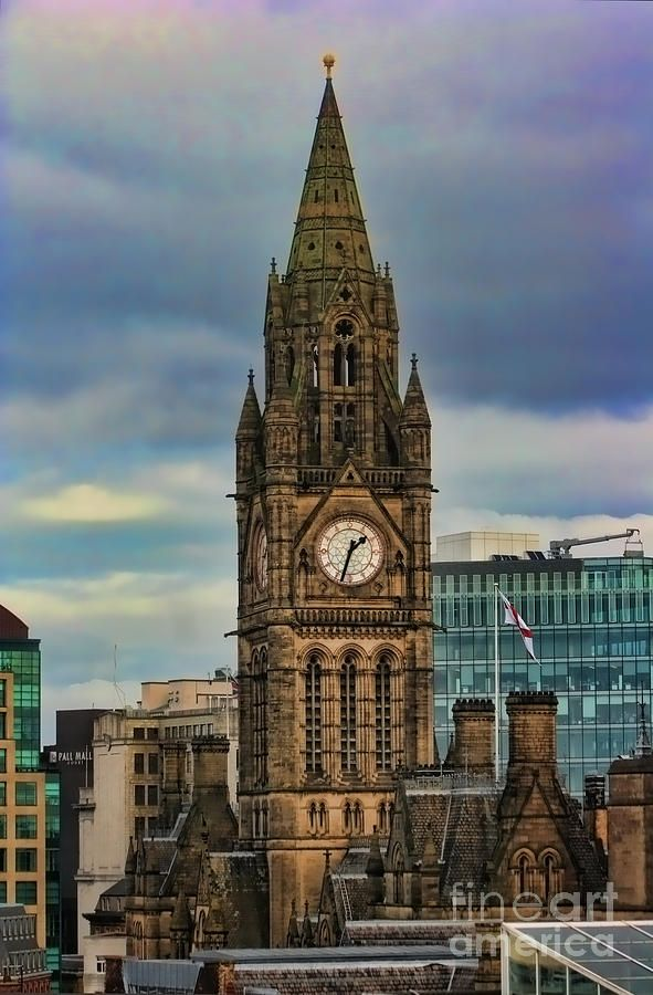 ✮ The clock tower at Manchester Town Hall - UK - my hometown :))