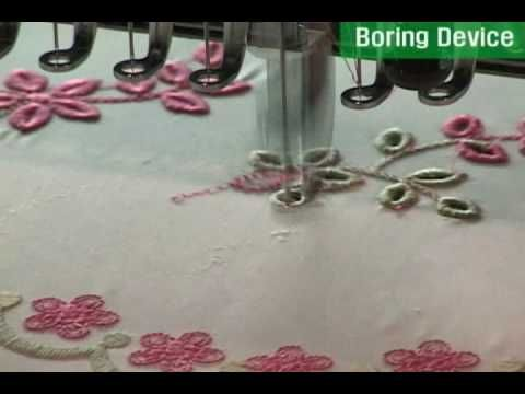 SWF Embroidery machine (boring device) - YouTube