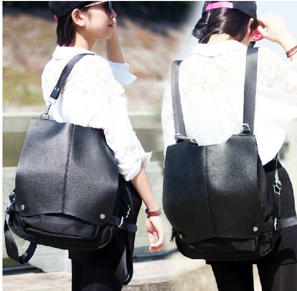 Goedkope nieuwe 2015 hoge kwaliteit vrouwen lederen rugzak rugzak mode een schouder rugzak reistas multifunctionele, koop Kwaliteit Rugzakken rechtstreeks van Leveranciers van China: