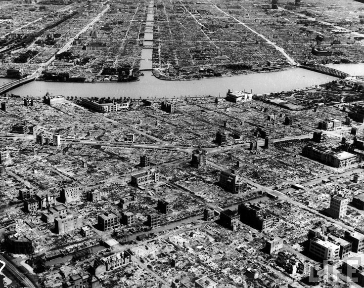 The city of Hiroshima after the atomic bombing in the year 1945...the unforgettable crime!