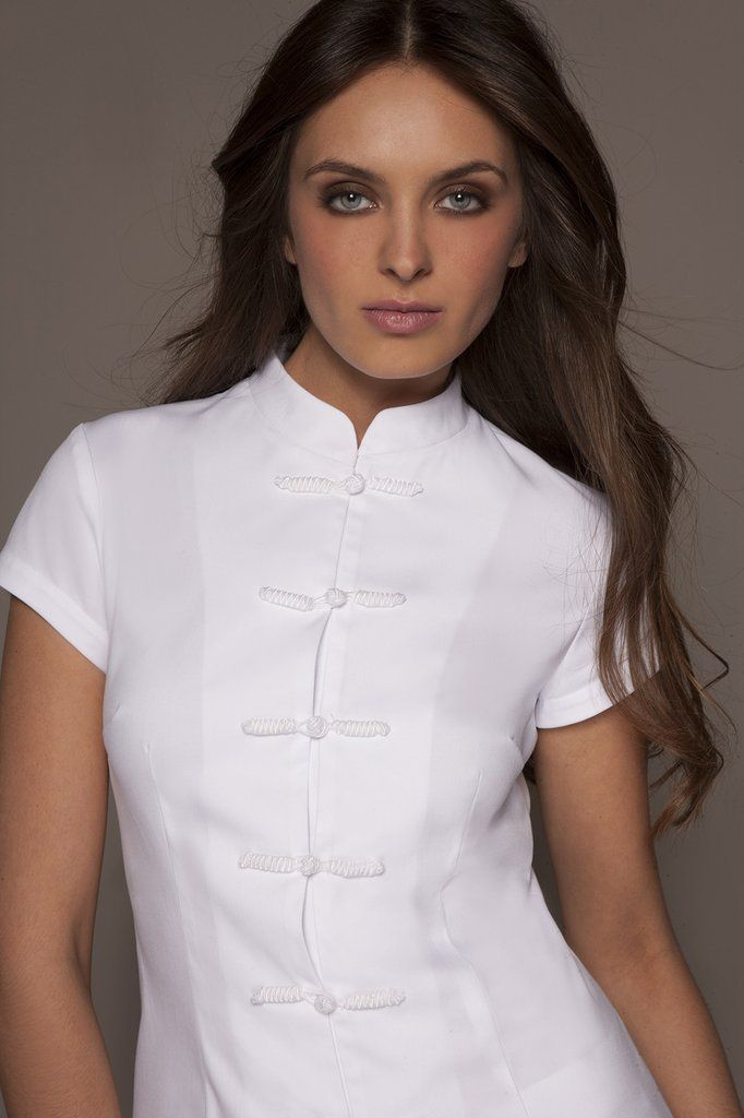 STYLEMONARCHY Spa Uniforms & Medical Uniforms. SHANGHAI & CORDOBA Set (White), Shanghai Tunic - stylemonarchy.com